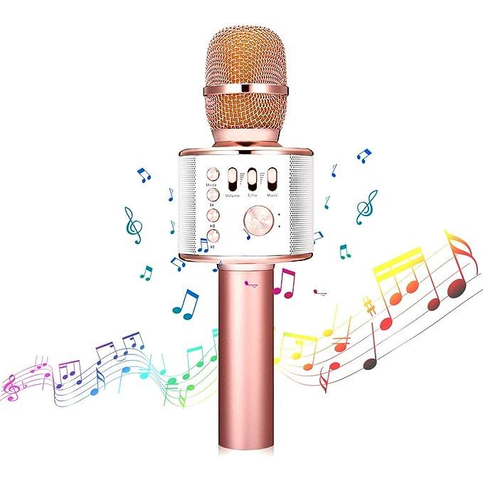 73 opinioni per Microfono Wireless, NASUM Microfono Karaoke bluetooth 4.1 Altoparlante per