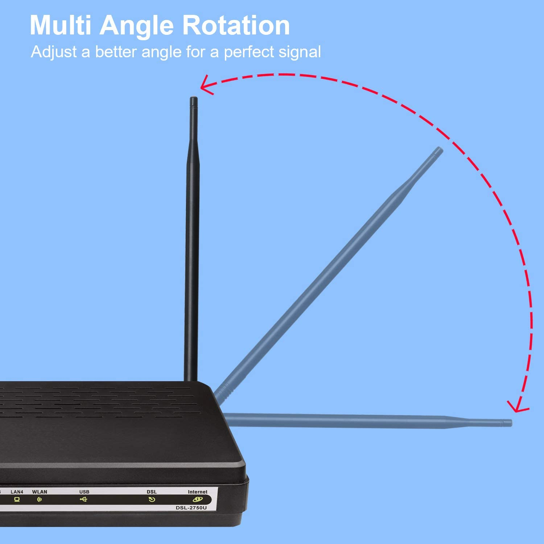 2.4GHz 7dBi WIFI Antenna Booster WLAN RP-SMA for PCI Card Modem Router GW