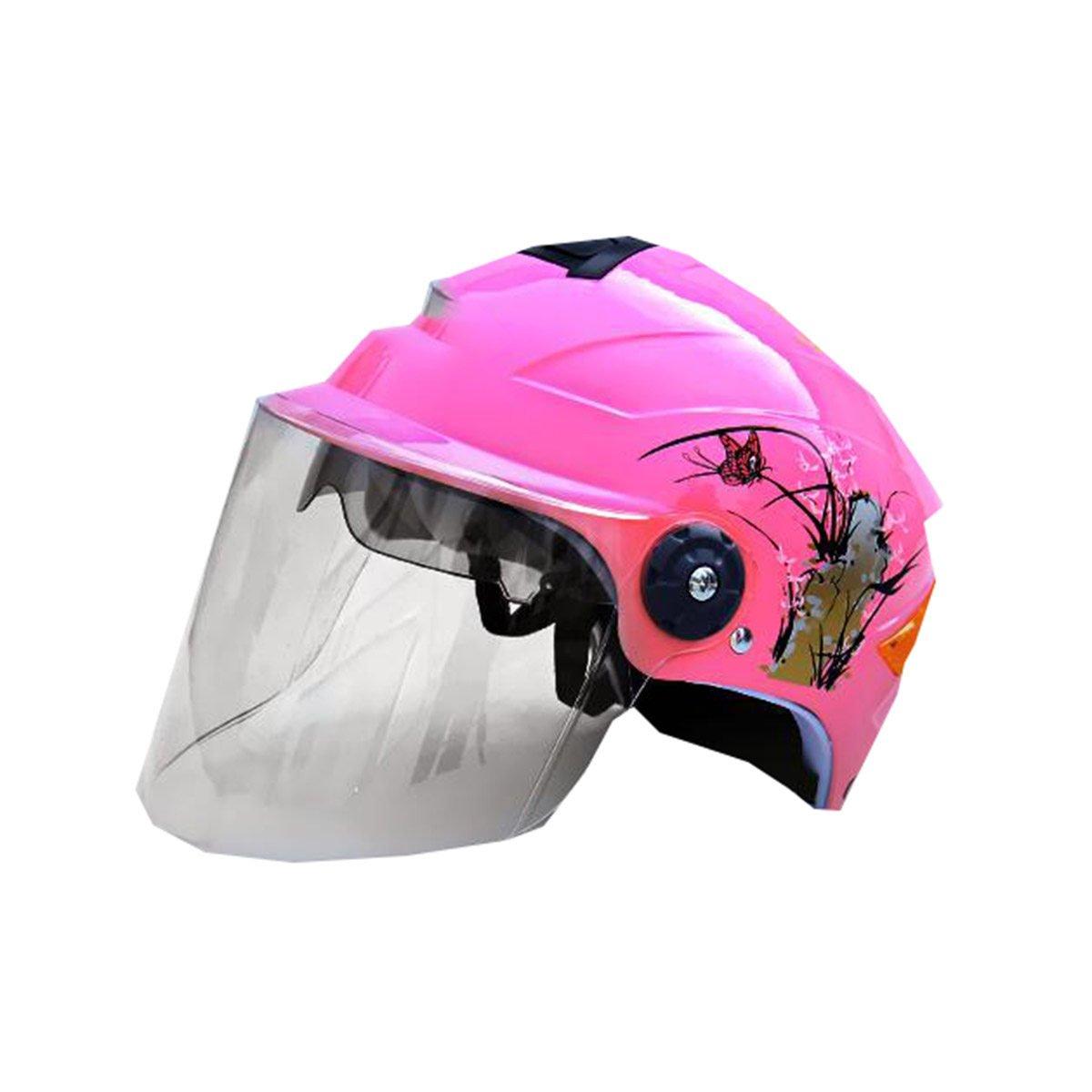 TZQ Moda Motocicleta Coche Eléctrico Half-covered Sunscreen Señoras Coche Eléctrico Moda Lucha Hat Casco