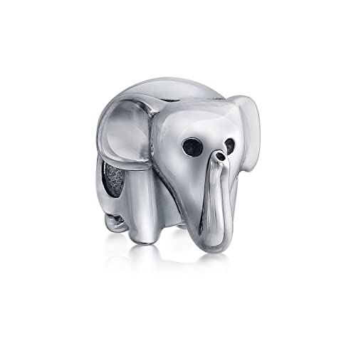 cd4c372d4 Amazon.com: Good Luck Trunk Up Elephant Bead Charm For Women For Teen  Oxidized 925 Sterling Silver Fits European Bracelet: Jewelry