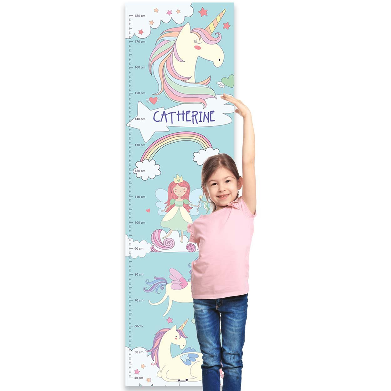 Paper Themes Personalised Childrens Height Chart for Kids Nursery Wall, Or Bedroom - Aeroplane Collisons