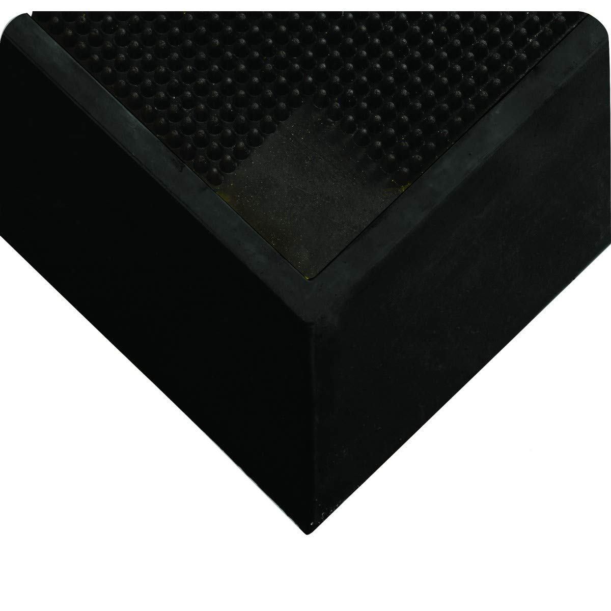 "Wearwell Natural Rubber 222 Anti-Fatigue Sanitizing Footbath Mat, for Food Processing Facilities, 2 1/2"" Edges, 2 1/2in x 30.75in x 37in, Black, 31"" x 37"" x 2.5"""