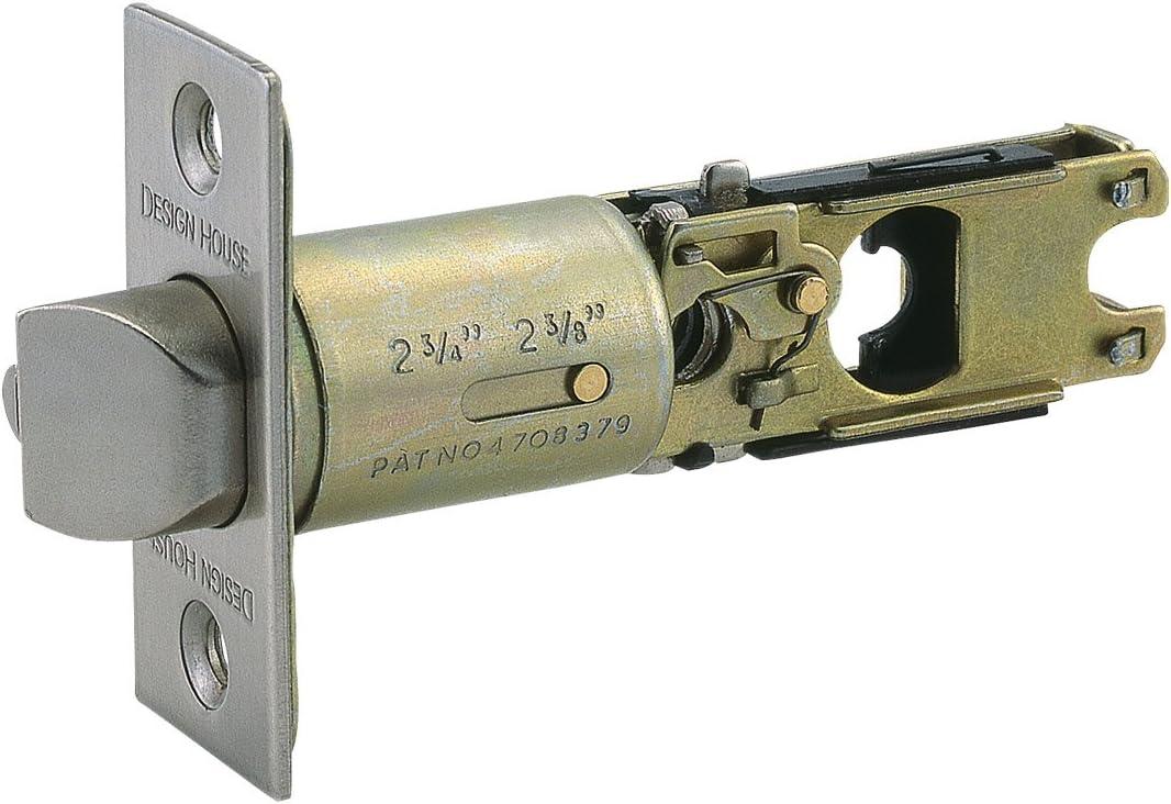 Design House Parts & Accessories 790782 Pro 2-Way Adjustable Entry Latch, Satin Nickel