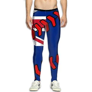 d2583e5b2ce40 Amazon.com: Men's New Zealand Flag Baseball Clip Art Yoga Pants Sports  Tights Pants Baselayer Running Leggings: Clothing