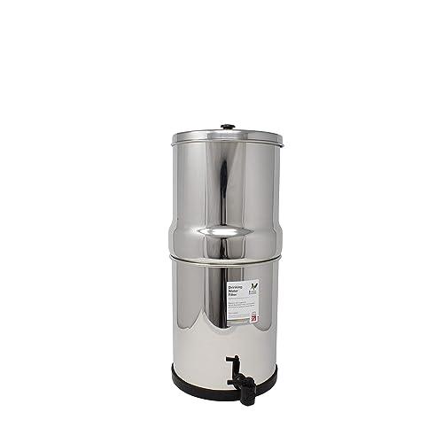 British Berkefeld Stainless Steel Drinking Water Gravity Filter Housing with 2 x British Berkefeld Ceramic ATC Super Sterasyl Water Filter Cartridge Candles ¦ 7 inch ¦ W9361151