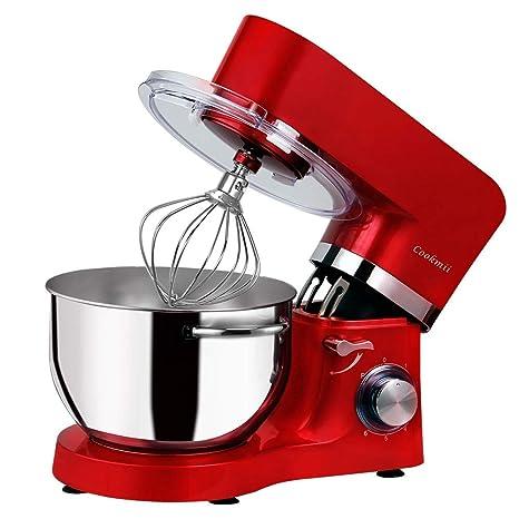 Cookmii Batidora Amasadora Repostería Profesional 1500W Robot de Cocina Multifuncional, Amasadoras de Pan, Batidora Eléctrica de 6 Velocidades con ...