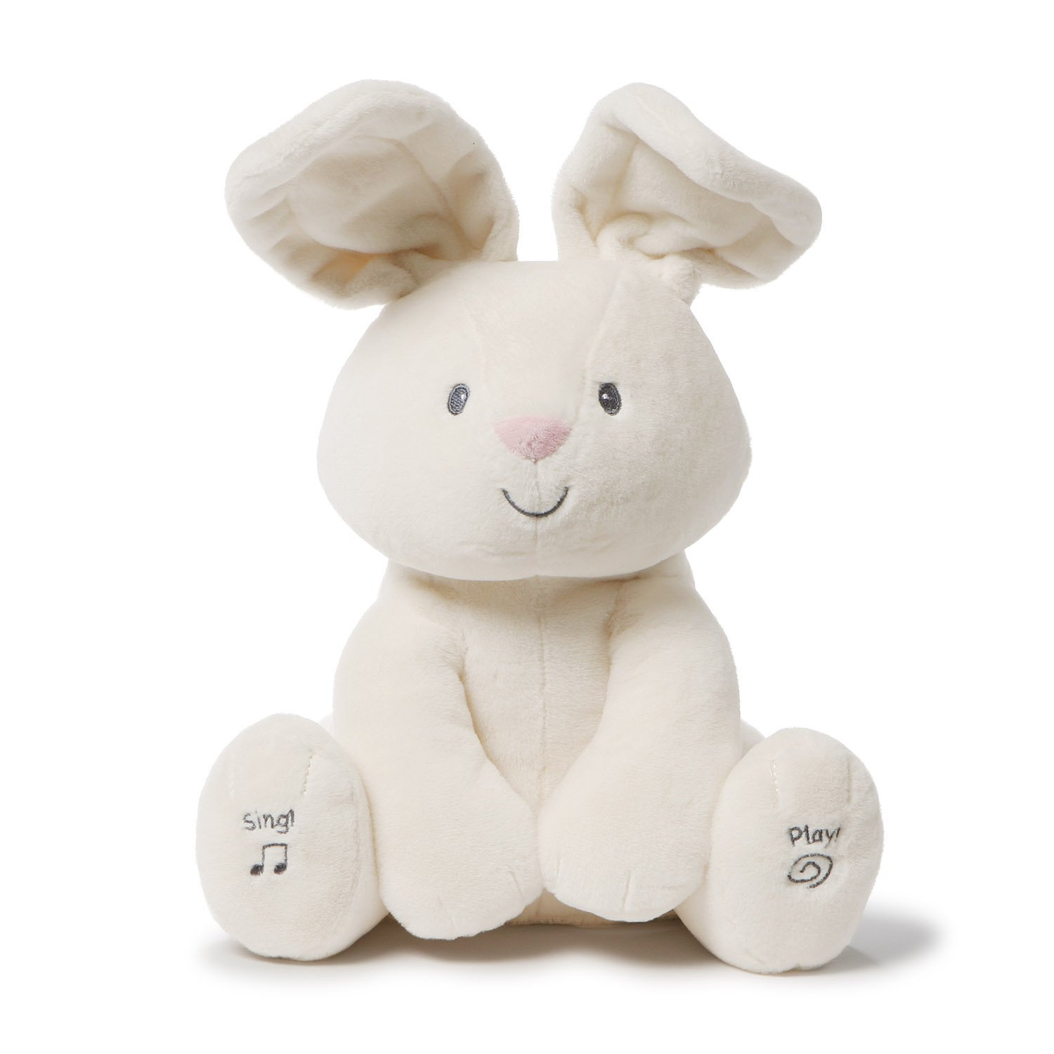Gund Baby Flora The Bunny Animated Plush Stuffed Animal Toy, Cream, 12''