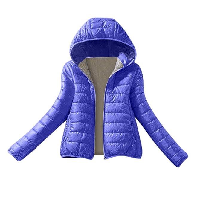 ab9ea4b046f87 letter54 Frauen-Winter-warme Mantel-dünne mit Kapuze Reißverschluss-Jacken-Mantel-Bluse   Amazon.de  Bekleidung