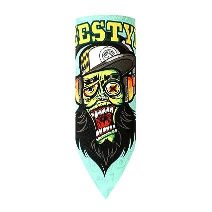 Aesy Seda de Hielo Máscara de Ciclismo Facial, Multifuncional Sin Costura Quitasol Gorra Sweatband Headband