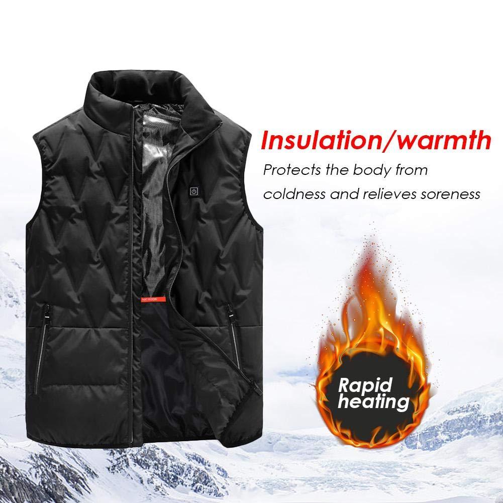 KILLYSUFUY Abrigo de algodón cálido para Deportes al Aire Libre Esquí Patinaje Chaleco calefaccionado Chaleco calefaccionado eléctrico Chaleco calefaccionado para Hombres Mujeres Chaleco CORESUFUY
