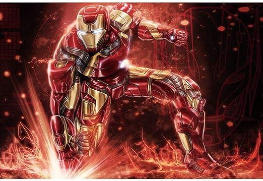 Rompecabezas Patrón superhéroe Iron Man, de madera rompecabezas ...