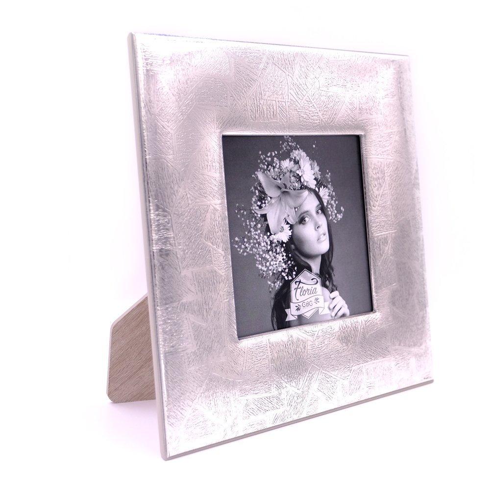 Bilderrahmen in Silber Texture cm 13 x 13