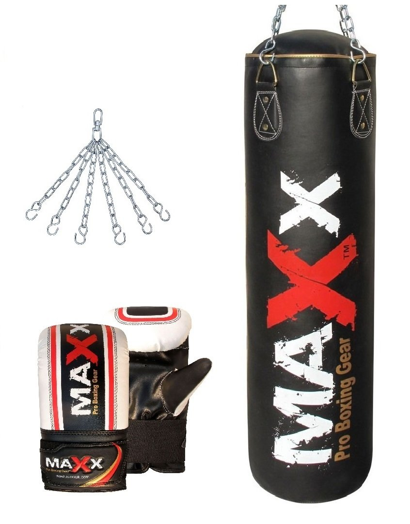 3ft long punch bag set kit boxing martial arts training pad sports fitness bag