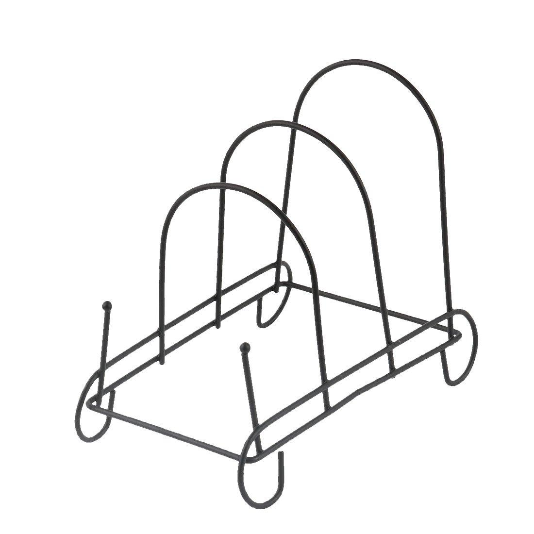 uxcell Metal Bowl Dish Plate Rack Drying Organizer Drainer Storage Holder Sink Cabinet Kitchen 18.2 x 9.7 x 15.5cm