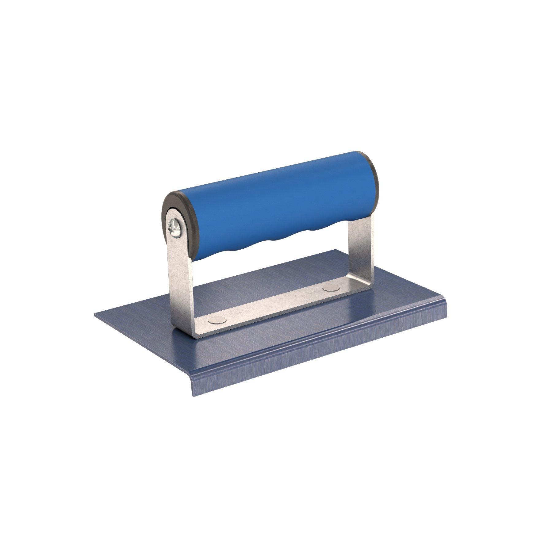 Bon 22-717 6-Inch by 4-Inch Blue Steel Sidewalk Edger, 1/8-Inch Radius 3/8-Inch Lip and Comfort Grip Handle