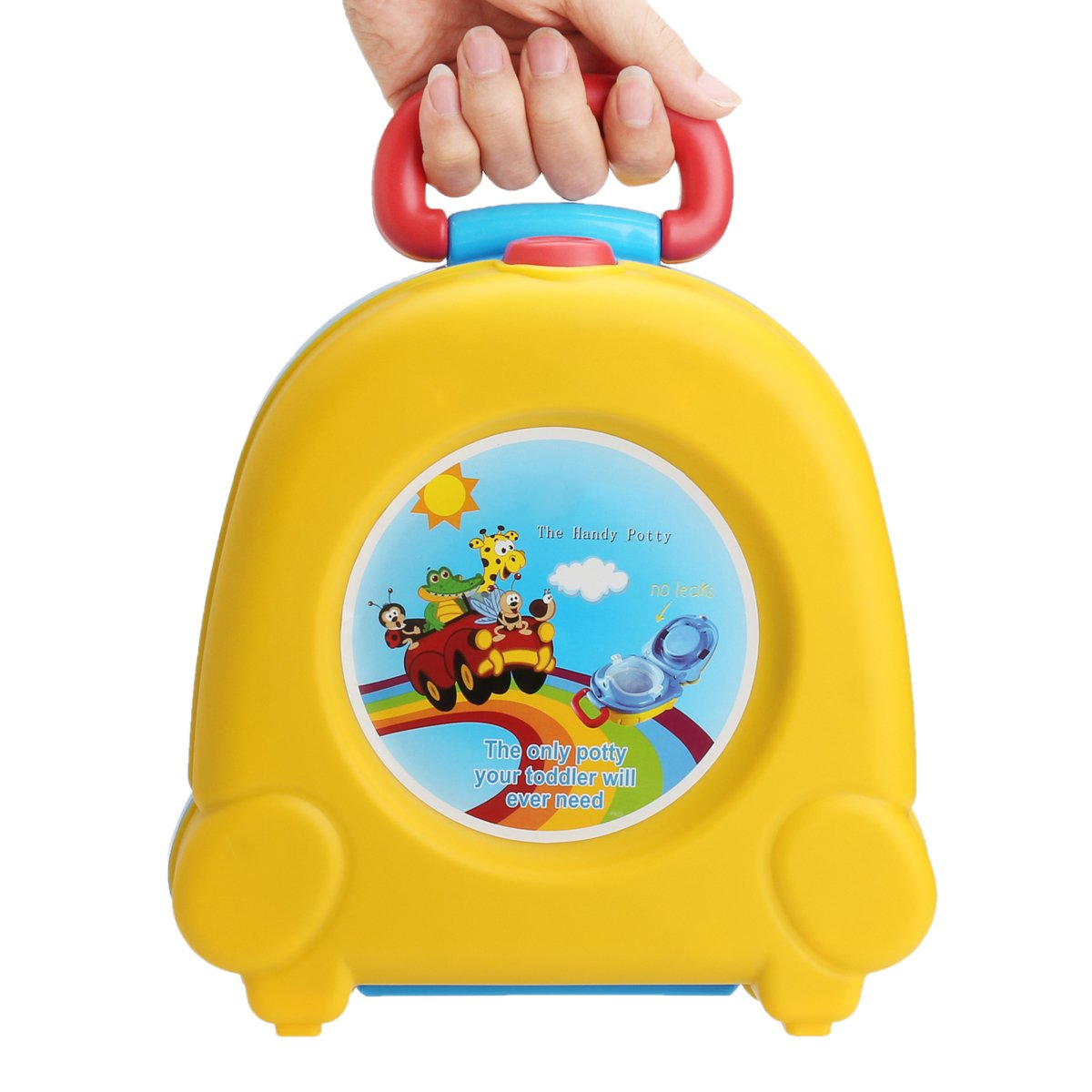 Graven Kid Baby Toddler Toilet Portable Training Seat Travel Potty Urinal Pee Pot Chair - (Color: Yellow)