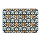 Islamic Design Non Slip Indoor Doormat For Home Office Clean Absorbent Antiskid Kitchen Bath Mats