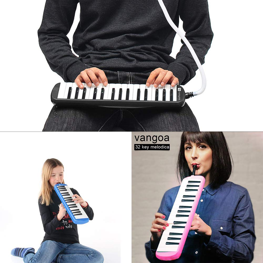 Melodica, Melodica Instrument Pink 32 Keys with Mouthpiece Premium Air Melodicas Piano Keyboard Style Portable, by Vangoa New Version] by Vangoa (Image #6)