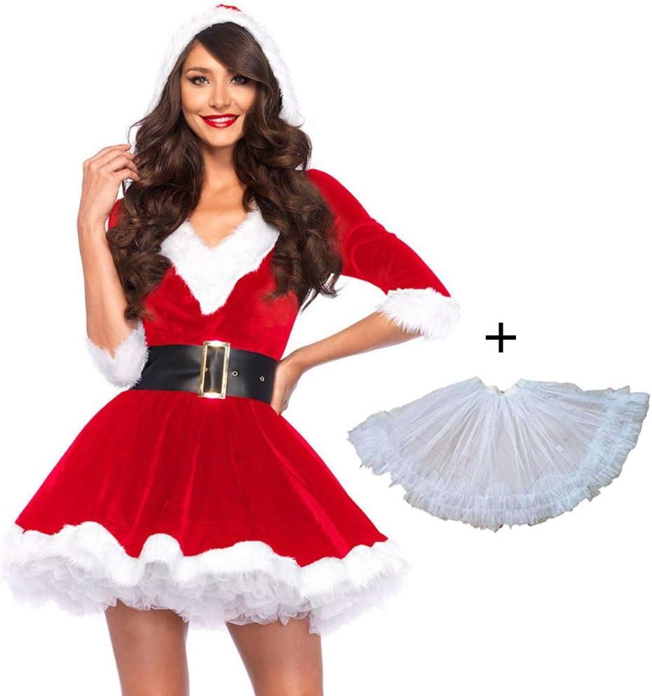 Disfraz De Navidad Mujer Adulta Ropa Rendimiento Vestido Cosplay ...