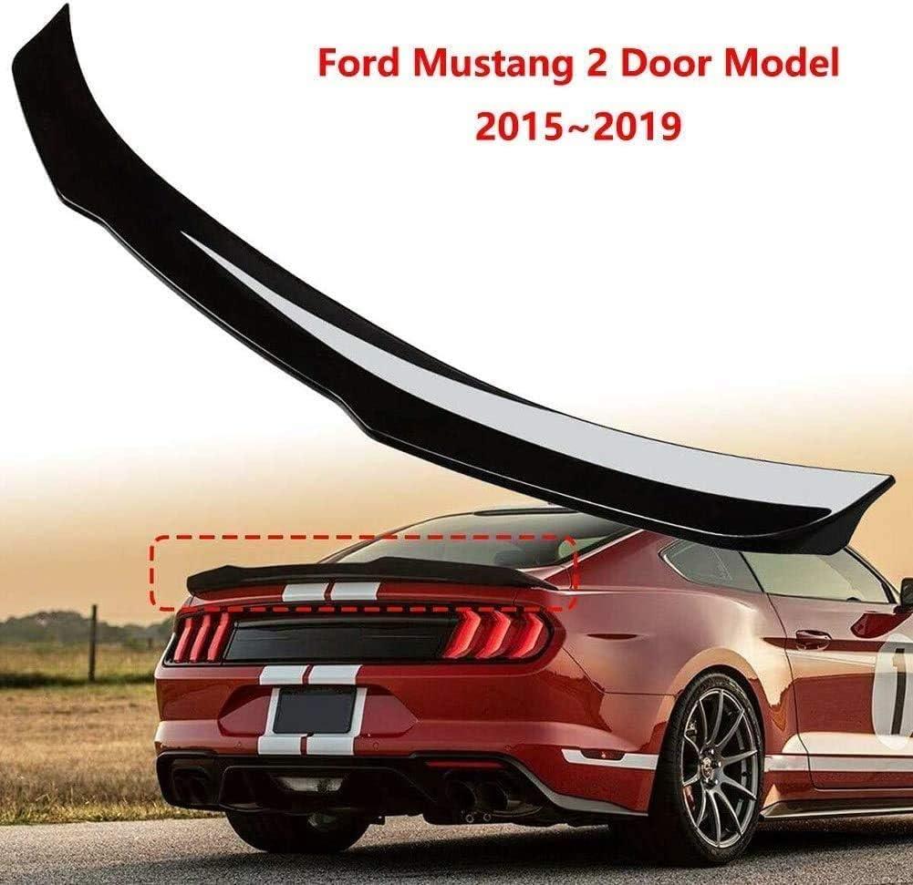XXIAOHH Aler/ón Trasero Autom/ático Abs Spoiler Trasero para Ford Mustang Modelo De 2 Puertas 2015~2019