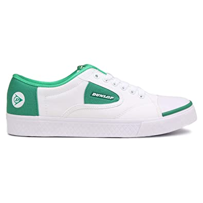 51a2d9df58af Dunlop Green Flash Lace Unisex Shoes In White   Green 1555.  Amazon ...