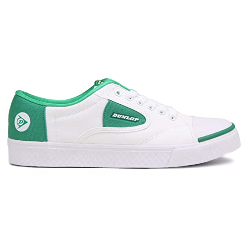 851ed8cea0c1 Dunlop Green Flash Lace Unisex Shoes In White / Green 1555.: Amazon ...