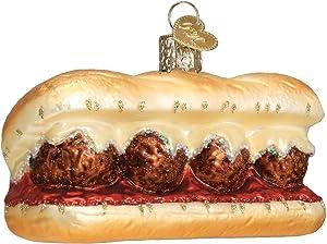 Old World Christmas Meatball Sandwich Ornament, Multi