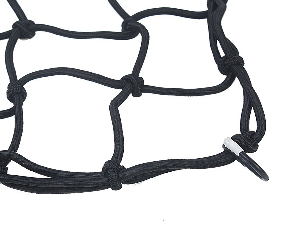 Stretches to 30 Black Boxer Tools Heavy-Duty 15 Cargo Net for Motorcycles ATVs