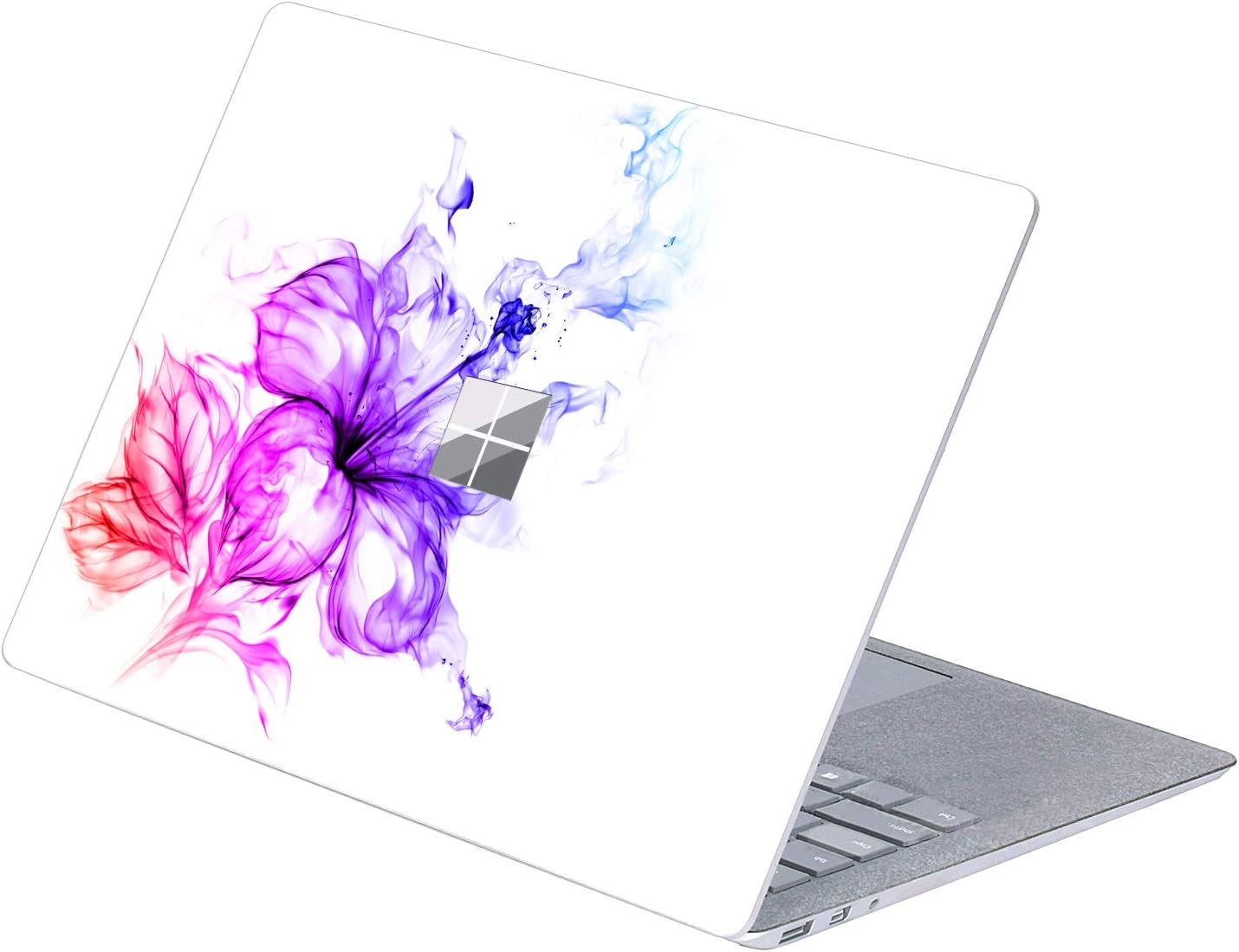 "MasiBloom Top Side Laptop Sticker Decal for 13"" 13.5 inch Microsoft Surface Laptop 3 & 2 & 1 (2019/18/17 Released) Anti Scratch Protective Skin, Not Compatible with Surface Book (Lily- Multicolor)"