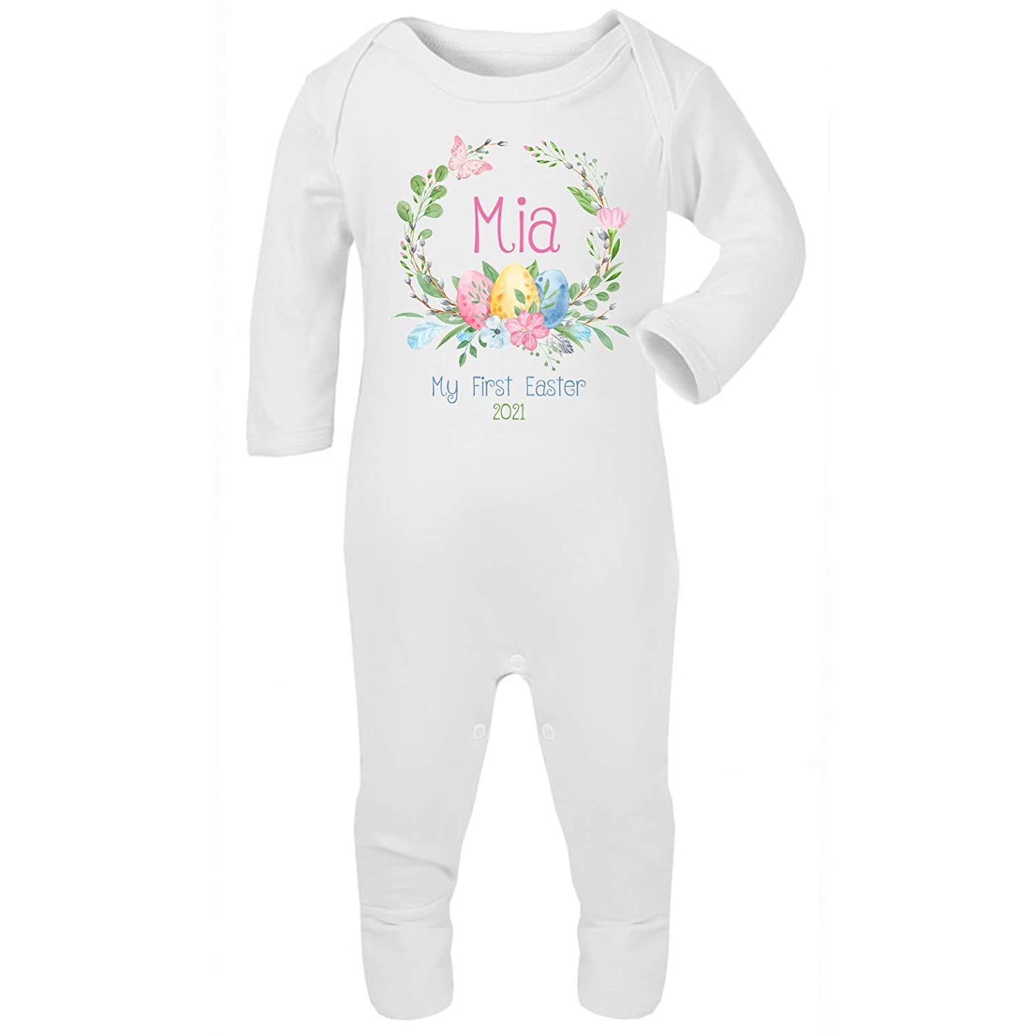 Personalised My First Easter Babygrow Baby Vest New Baby Gifts Newborn baby Gifts Personalised Babywear Baby Firsts Boys Easter Baby Outfit