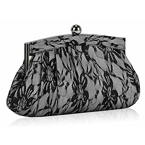 Elegant Luxury White Floral Satin Lace Clutch Bag | ON SALE FOR U00a321.99 | FREE UK DELIVERY | SAVE ...