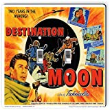 Rikki Knight 3705 Double Toggle Vintage Movie Posters Art destination Moon 2 Design Light Switch Plate