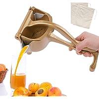 exprimidor manual de exprimidor de lim/ón MAGT Mini exprimidor para naranja lima con material PP de grado alimenticio F/ácil de transportar y almacenar Gris oscuro Exprimidor de lim/ón