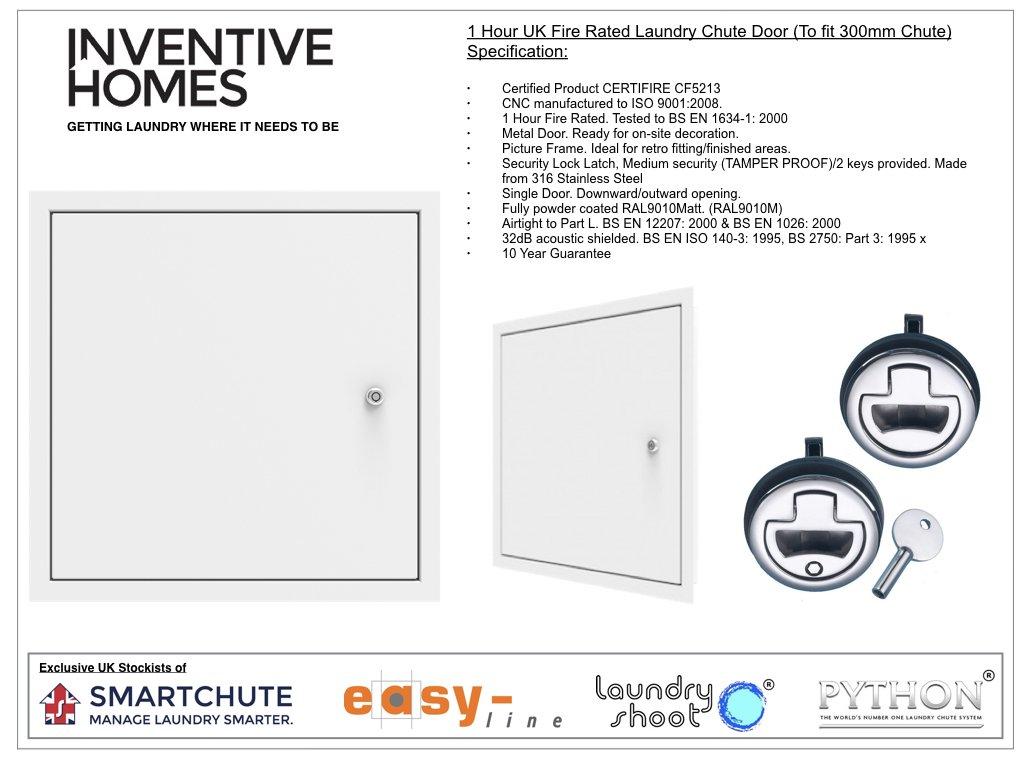 Laundry chute door 1 hour uk fire rated door 300mm amazon co uk kitchen home