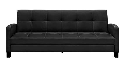 dhp delaney sofa sleeper in rich faux leather multifunctional black amazon    dhp delaney sofa sleeper in rich faux leather      rh   amazon