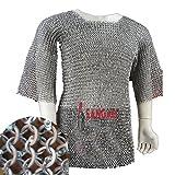 Medieval Haubergeon Armour Chain mail Shirt