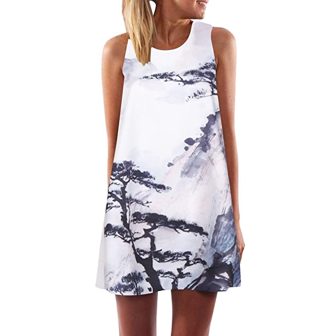 Women's Clothing Toamen Womens Boho Dress Sale Vintage Summer Sleeveless Floral Print Beach Party Short Mini Tank Vest Dresses Sundress