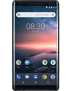 Nokia 8 Sirocco 128 GB UK SIM-Free Smartphone - Black: Amazon co uk