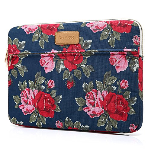 CoolBELL 13.3 Inch Laptop Sleeve Case Cover with Peony Flower Pattern Ultrabook Sleeve Bag for Ultrabook Like Asus/Dell / MacBook Pro/MacBook Air/Acer / Lenovo/Women/Men