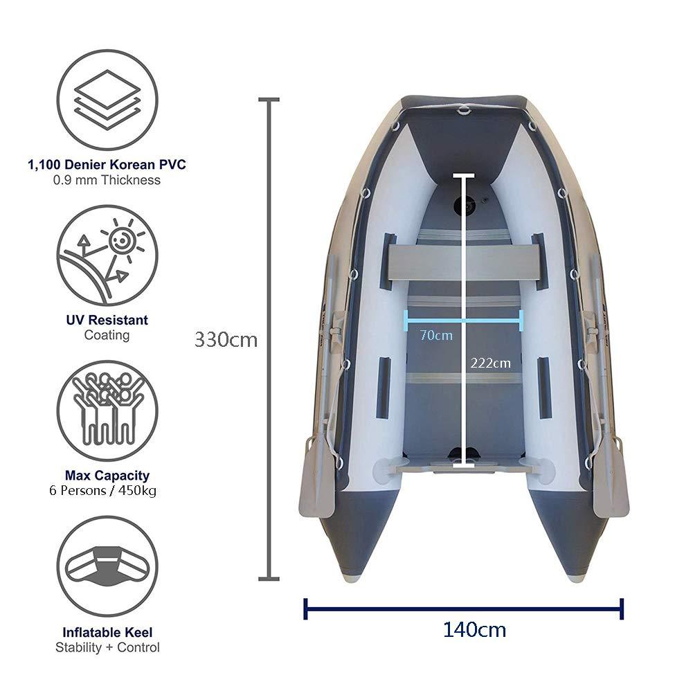 DMBHW Espesar Bote Salvavidas Barca Hinchable Barco de Asalto 6 ...