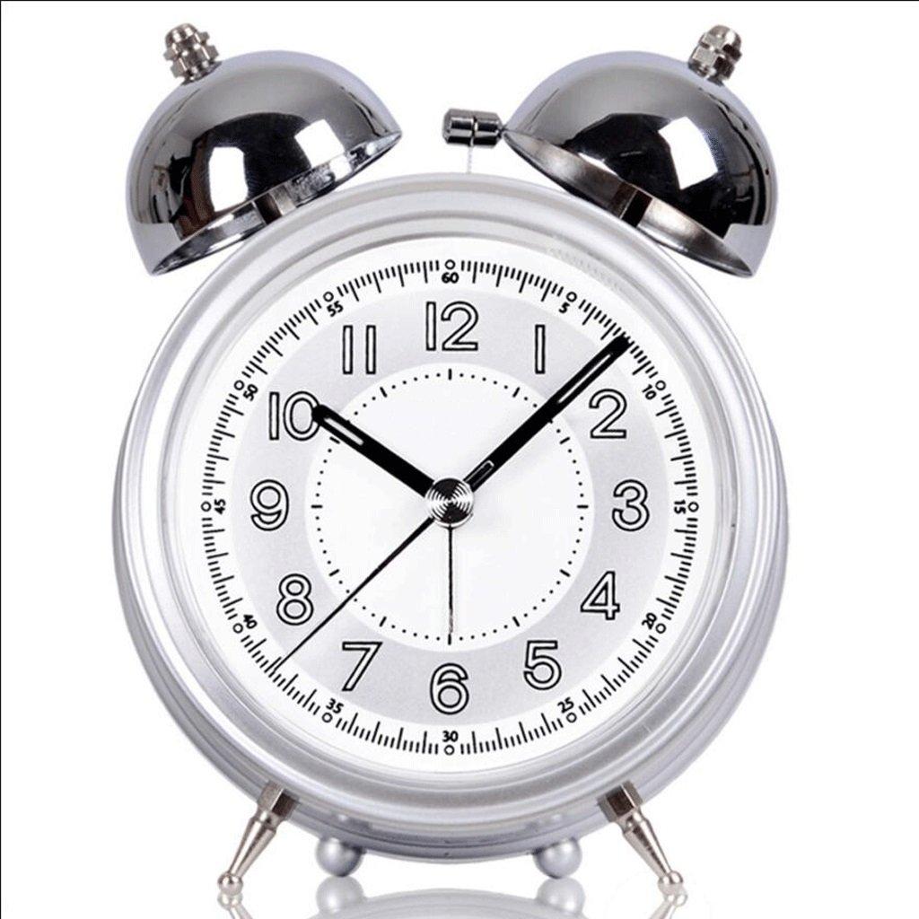ZLR クリエイティブナイトライト目覚まし時計ベッドルームミュート目覚まし時計 ( 色 : シルバー しるば゜ ) B07BN8343W シルバー しるば゜ シルバー しるば゜