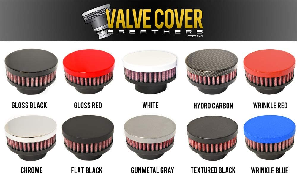 Flat Black CFM Performance Baffled Billet Valve Cover Breather compatible with 2010-2017 Chevrolet Equinox /& GMC Terrain 2.4L Ecotec