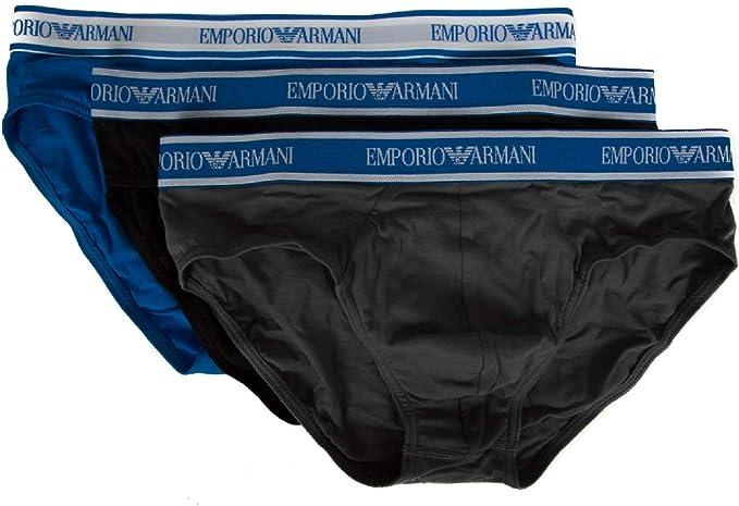 Emporio Armani Pack 3 Slip Calzoncillos Hombre tripack artículo ...