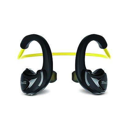 Klip Xtreme Athletik X gancho de oreja Binaural Inalámbrico Negro, Amarillo - Auriculares (Inalámbrico