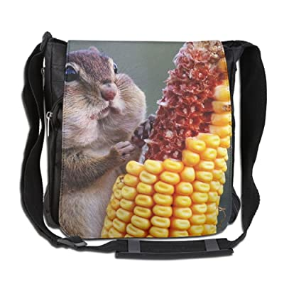 A Cute Eats The Corn Fashion Print Diagonal Single Shoulder Bag