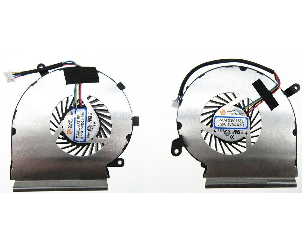 Ventilador CPU GPU MSI GE62VR GP62VR GP62MVR And 2 Fans PAAD0601