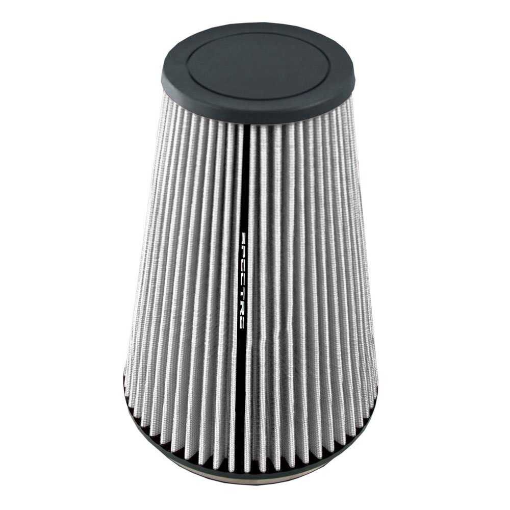 Spectre Performance HPR9605W Universal Clamp-On Air Filter: Round Tapered; 6 in 196 mm Height; 7.719 in Flange ID; 10.25 in 260 mm Base; 4.313 in 110 mm 152 mm Top SPE-HPR9605W