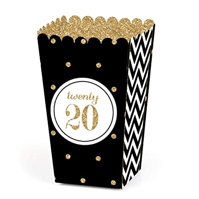Big Dot of Happiness Gold Tassel Worth The Hassle - 2020 Graduation Party Favor Popcorn Treat Boxes - Set of 12: Toys & Games