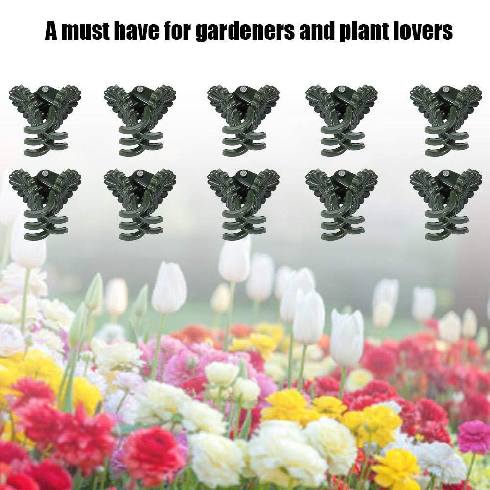 40 clips para plantas vegetarianas y plantas de jardín, soporte ...