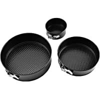 WYCY 7 inch Springform Pan Activity Buckle Cheesecake Pan Cake Pan with Nonstick High Carbon Steel Match 4 Egg Tart Mold